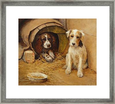 In The Dog House Framed Print by Samuel Fulton