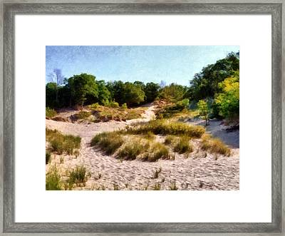 In The Dunes Framed Print by Michelle Calkins