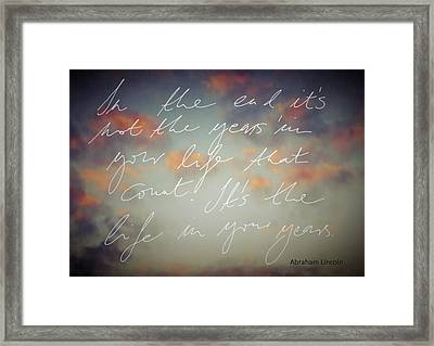 In The End... Framed Print by Marianna Mills