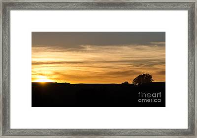 In The Evening I Rest Framed Print by CML Brown