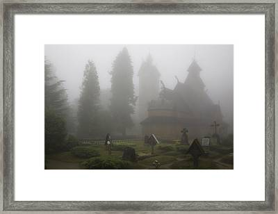 In The Fog Framed Print by Joanna Madloch