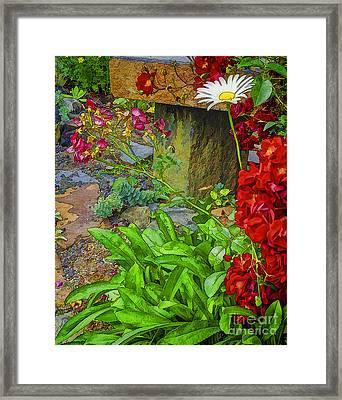 In The Garden-2 Framed Print by Nancy Marie Ricketts