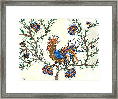 In The Garden - Barnyard Style Framed Print by Susie WEBER