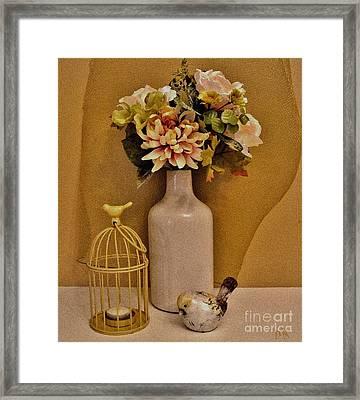 In The Garden Framed Print by Marsha Heiken