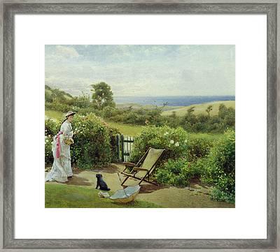 In The Garden Framed Print by Thomas James Lloyd