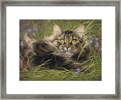In The Grass Framed Print by Lucie Bilodeau