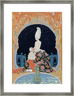In The Grotto Framed Print by Georges Barbier