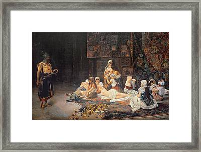 In The Harem Framed Print by Jose Gallegos Arnosa