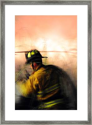 In The Heat Framed Print by Michael  Ayers