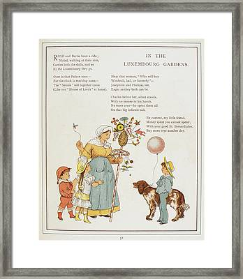In The Luxembourg Gardens Framed Print by British Library