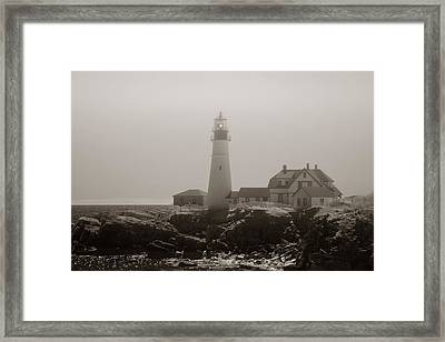In The Mist Framed Print by Joann Vitali