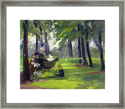 In The Park  Framed Print by Mary C Greene