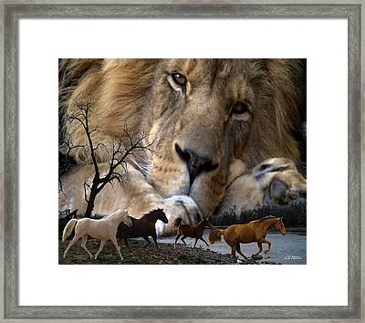 In The Presence Of Elohim Framed Print by Bill Stephens