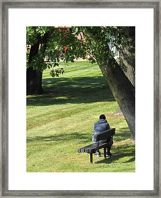 In The Privacy Of His Own Thoughts Framed Print by Guy Ricketts