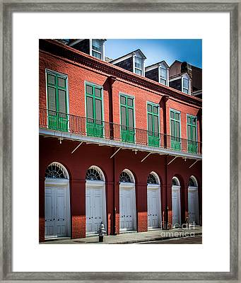 In The Quarter Framed Print by Perry Webster