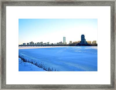 In The Shadow Of The Pru Framed Print by Toby McGuire