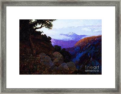 In The Shadows Ciffs Of San Juan Framed Print by Pg Reproductions
