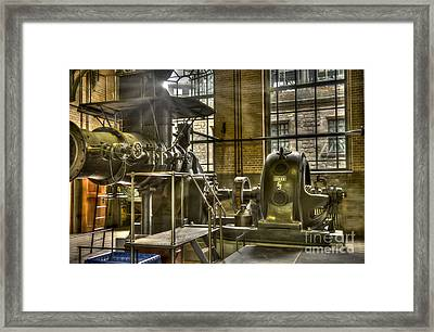 In The Ship-lift Engine Room Framed Print by Heiko Koehrer-Wagner