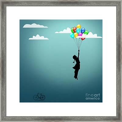 In The Sky  Framed Print by Mark Ashkenazi
