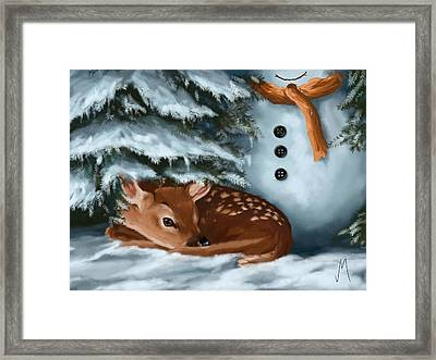 In The Snow Framed Print by Veronica Minozzi