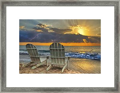 In The Spotlight Framed Print by Debra and Dave Vanderlaan
