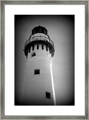 In The Village Of Wind Point Framed Print by Kay Novy