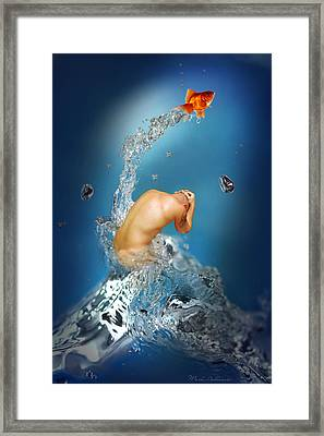 In The Water Framed Print by Mark Ashkenazi