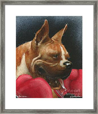 In This Corner... Framed Print by Will Bullas