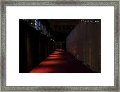 Exiting Through Darkness Framed Print by Gate Gustafson