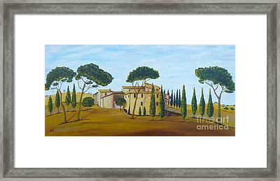 In Tuscany Framed Print by Christine Huwer