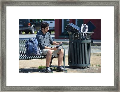In With The New And Out With The Old Framed Print by David G Nichols