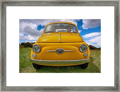 In Yo Face Fiatch Framed Print by Peter Tellone