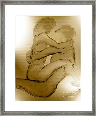 In Your Arms In Your Heart Framed Print by Carolyn Weltman