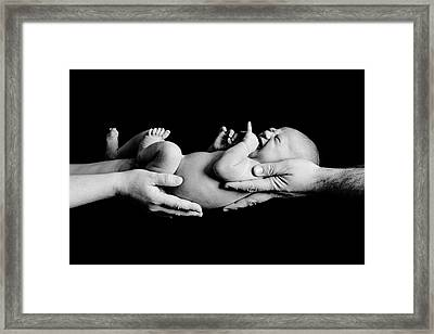 In Your Hands Framed Print by Sebastian Musial
