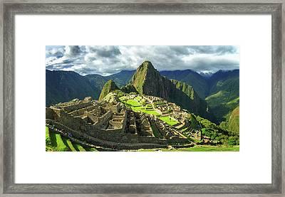 Inca City Of Machu Picchu, Urubamba Framed Print by Panoramic Images