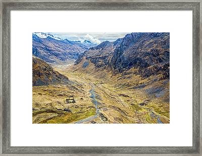 Incan Ruins In A Valley Framed Print by Jess Kraft