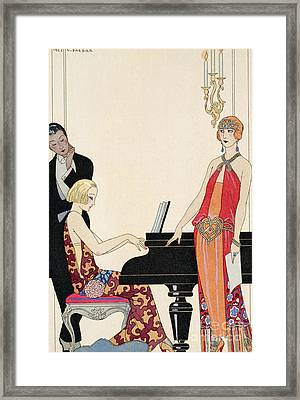 Incantation Framed Print by Georges Barbier