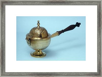 Incense Burner Framed Print by Science Photo Library