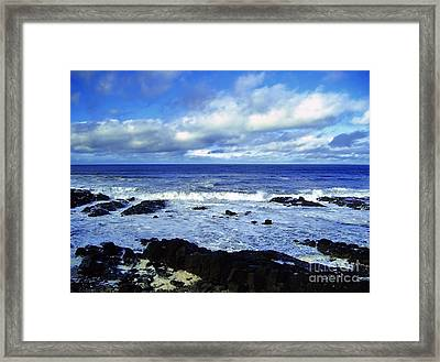 Incessant Tide Framed Print by Nina Ficur Feenan