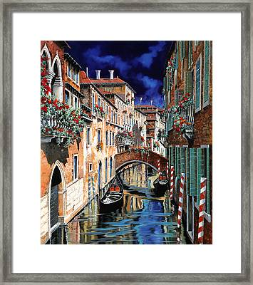 Inchiostro Su Venezia Framed Print by Guido Borelli