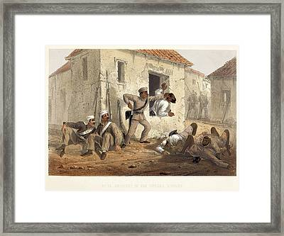 Incident In The Subzee Mundee Framed Print by British Library