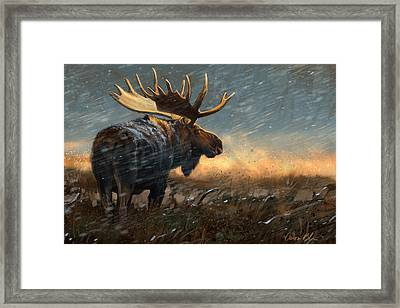 Incoming Storm Framed Print by Aaron Blaise