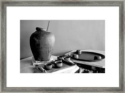 Indeginous Craft Of Earthern Ware Display Framed Print by Kantilal Patel