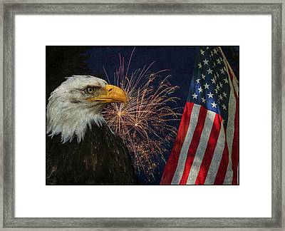 Independence Day Framed Print by Angie Vogel