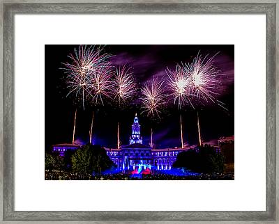 Independence Eve In Denver Colorado Framed Print by Teri Virbickis