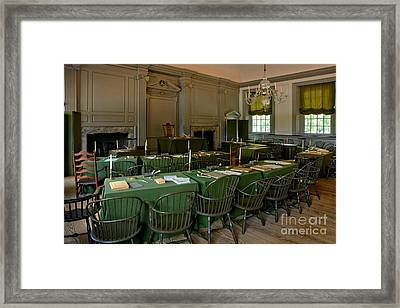 Independence Hall In Philadelphia Framed Print by Olivier Le Queinec