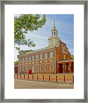 Independence Hall Philadelphia  Framed Print by Tom Gari Gallery-Three-Photography