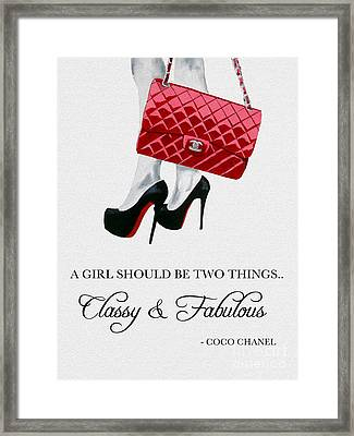 Independent Quote Framed Print by Rebecca Jenkins