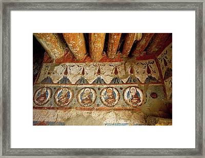 India, 10th Century Murals Framed Print by Jaina Mishra