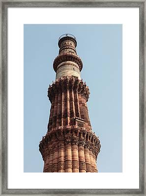 India, Delhi, The Qutb Minar Framed Print by Alida Latham